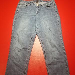 Lane Bryant sz 14 Genius Fit straight leg jeans